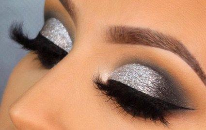Silver/Black Eye Makeup