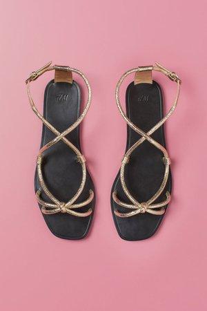 Sandals - Gold colored - Ladies | H&M US
