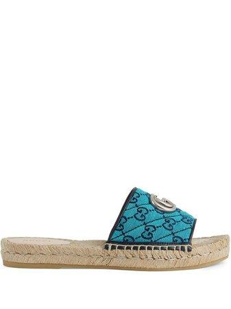 Gucci GG Multicolor Espadrille Sandals - Farfetch