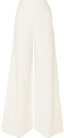 Uppingham Cady Wide-leg Pants - White