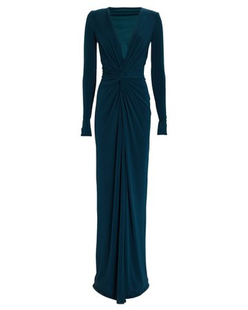 Katie May In a Mood Draped Plissé Gown | INTERMIX®
