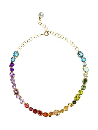 Shop gold Dolce & Gabbana multicolour gem necklace with Express Delivery - Farfetch