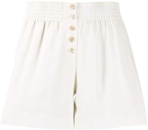 high waist elasticated shorts