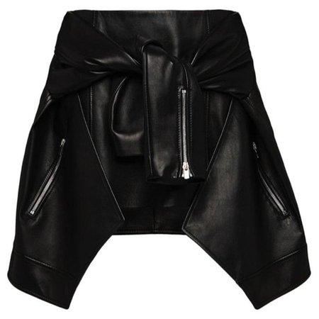 Magda Butrym Buffalo Leather Wrap Skirt