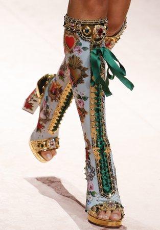 Dulce Gabbana Luxury Heeled Boots
