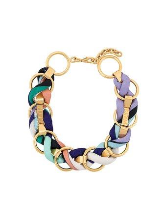 Emilio Pucci Logo Engraved Woven Chain Choker For Women | Farfetch.com
