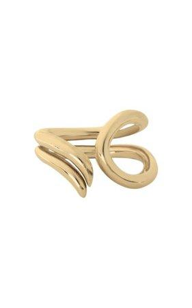 18k Gold-Plated Paisley Ring By Sapir Bachar | Moda Operandi