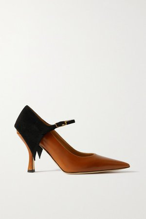 Cape Suede And Leather Pumps - Tan