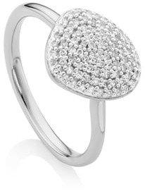 Nura Diamond Pebble Stacking Ring