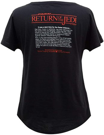 Amazon.com: Out of Print Star Wars: The Return of The Jedi Dolman Shirt XX-Large: Clothing