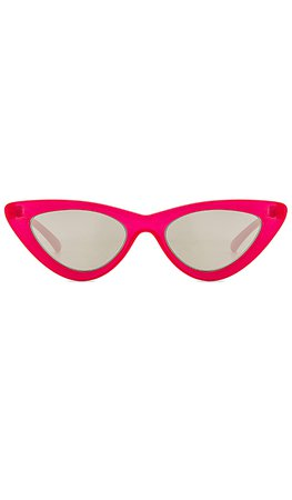 Le Specs x Adam Selman The Last Lolita in Opaque Red & Silver Mirror | REVOLVE