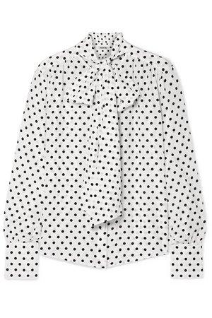 Jason Wu | Pussy-bow polka-dot silk crepe de chine blouse | NET-A-PORTER.COM