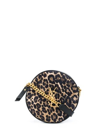 Saint Laurent Vinyle Leopard-Print Round Camera Bag Ss20 | Farfetch.Com