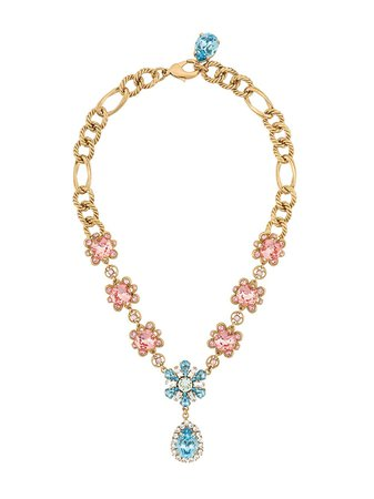 Dolce & Gabbana Floral Crystal-Embellished Necklace Ss20 | Farfetch.com