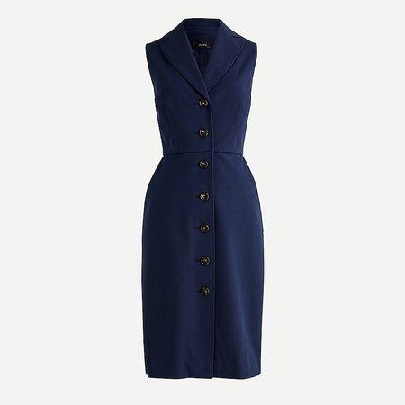 J.Crew: Blazer-dress In Bi-stretch Cotton For Women