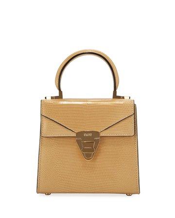 STALVEY Mini Trapezoid Lizard Top-Handle Bag   Neiman Marcus