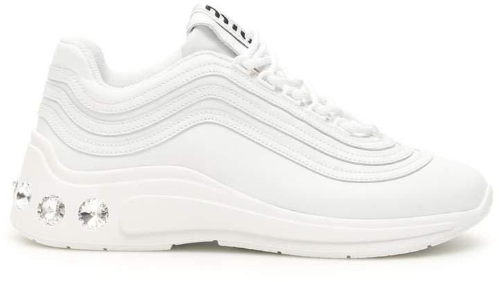 Crystal Embellished Low Top Sneakers
