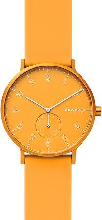 Aaren Kul?r Rubber Strap Watch, 41mm