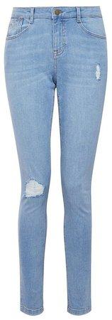 Blue Lightwash Rip Harper Jeans