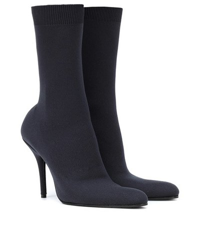 Stretch-jersey ankle boots