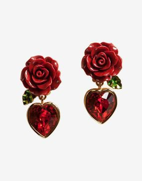 dolce and gabbana rose earrings