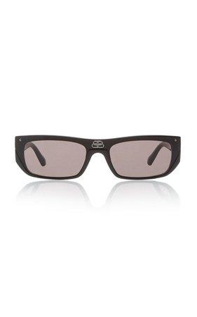 Shield Acetate Square-Frame Sunglasses By Balenciaga | Moda Operandi