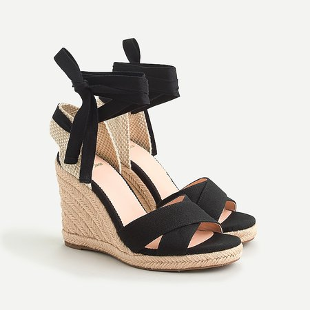 J.Crew: Lace-up Espadrille Wedge For Women