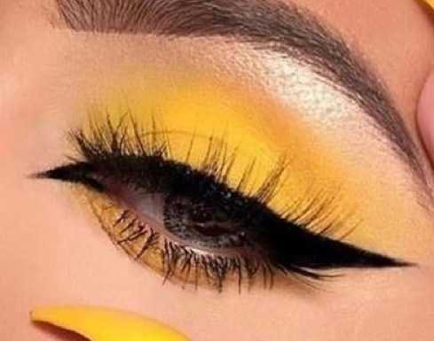 Mustard Eye Makeup