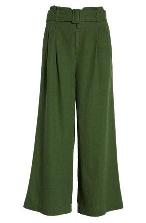 BP. Belted Wide Leg Linen Blend Pants (Regular & Plus Size) | Nordstrom