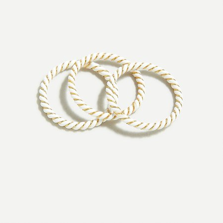 J.Crew: Twisted Ring Set For Women