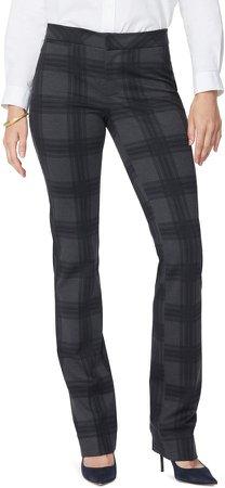 Plaid Slim Trousers