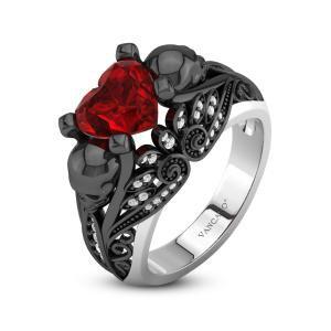 Vancaro Heart Skull Ring
