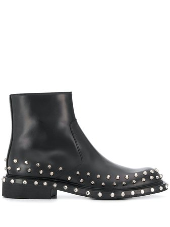Prada Studded Ankle Boots - Farfetch