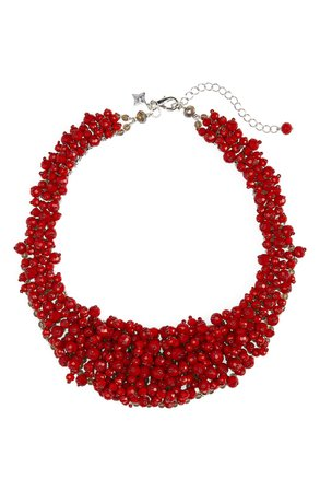Panacea Crystal Bead Statement Necklace | Nordstrom