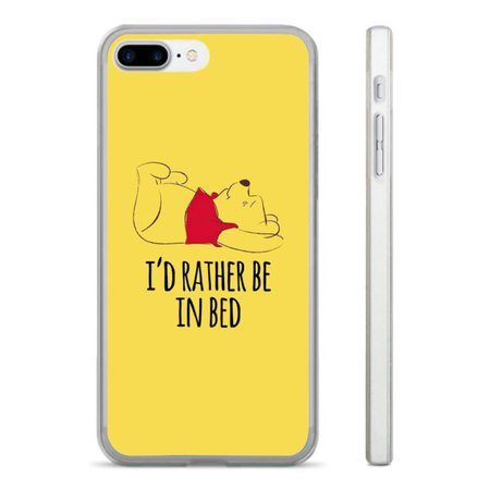 WINNIE THE POOH IN BED HARD CLEAR PHONE CASE COVER FITS IPHONE 5 6 7 8 (HT)   eBay
