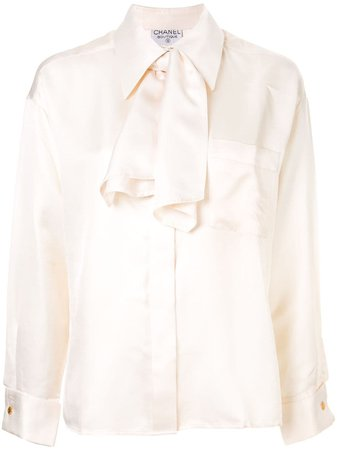 Chanel Pre-Owned Oversized Pussy Bow Blouse - Farfetch