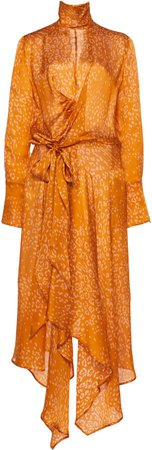 Abia Knotted Printed Silk Dress