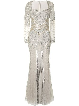 Zuhair Murad sequin-embellished fishtail gown - FARFETCH