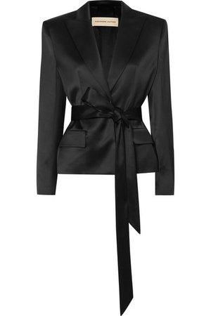 Alexandre Vauthier | Belted satin blazer | NET-A-PORTER.COM