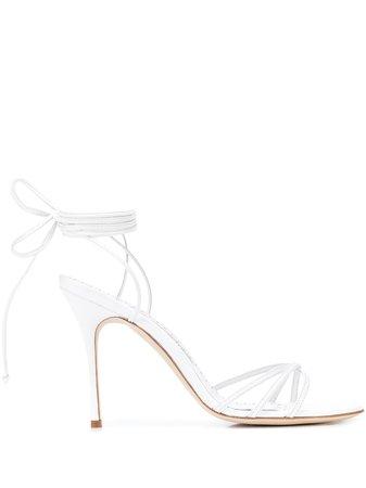 Manolo Blahnik LEVA 110Mm Lace-Up Sandals Ss20   Farfetch.com