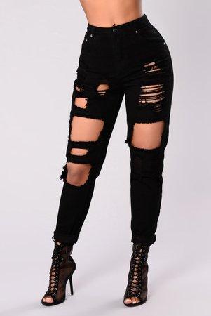 Bad To The Bone Boyfriend Jeans - Black