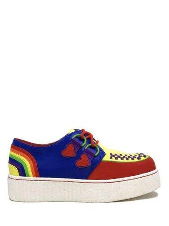 YRU Strange Cvlt Cult Krypt Kreeper Creeper Gay Pride Rainbow Platforms Sneakers | eBay