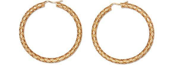 Women's Celine Animals bold hoops in brass   CELINE   24S   24S
