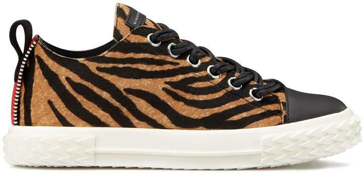 tiger print sneakers