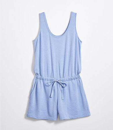 Lou & Grey Signature Softblend Drawstring Romper | LOFT blue