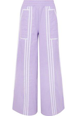 adidas Originals | + Ji Won Choi striped cotton-blend jersey wide-leg track pants | NET-A-PORTER.COM
