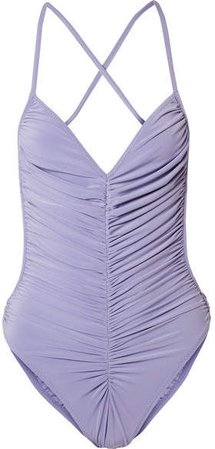 Butterfly Mio Ruched Swimsuit - Violet