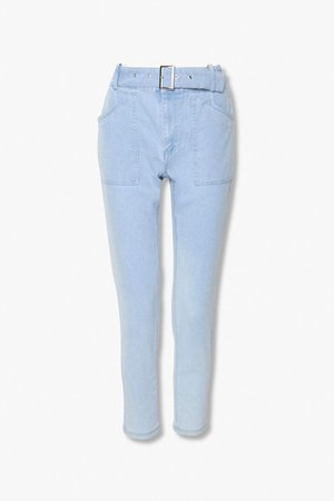 Belted Ankle Jeans | Forever 21