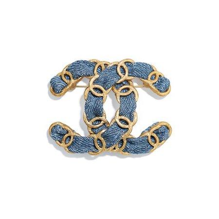 denim brooch Chanel