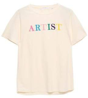 Chinti & Embroidered Cotton-jersey T-shirt